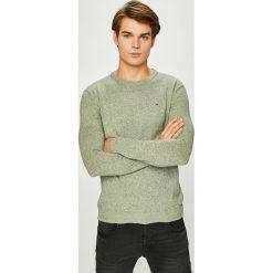 Hilfiger Denim - Sweter. Szare swetry klasyczne męskie marki Hilfiger Denim, l, z bawełny, z okrągłym kołnierzem. W wyprzedaży za 239,90 zł.
