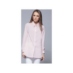Elegancka koszula z kołnierzykiem różowa H025. Białe koszule wiązane damskie Harmony, xxl, biznesowe, z klasycznym kołnierzykiem, z długim rękawem. Za 134,00 zł.