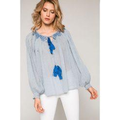 Pepe Jeans - Bluzka Leah. Szare bluzki nietoperze marki Pepe Jeans, m, z haftami, z bawełny, casualowe. W wyprzedaży za 179,90 zł.