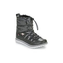 Śniegowce Kangaroos  K WOWI JOG RTX. Czarne buty zimowe damskie KangaROOS. Za 269,00 zł.