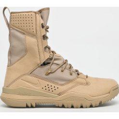 Nike - Buty SFB Field 2 8. Szare buty trekkingowe męskie Nike, z materiału, na sznurówki, outdoorowe. W wyprzedaży za 649,90 zł.