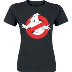 Ghostbusters Distressed Logo Koszulka damska czarny. Czarne bluzki asymetryczne Ghostbusters, xxl, z nadrukiem, z okrągłym kołnierzem. Za 74,90 zł.