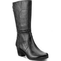 Kozaki JANA - 8-25340-29 Black 001. Czarne buty zimowe damskie marki Superfit, z gore-texu, przed kolano, na wysokim obcasie. W wyprzedaży za 329,00 zł.