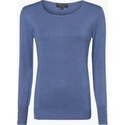 Marie Lund - Sweter damski, niebieski. Niebieskie swetry klasyczne damskie Marie Lund, xl, z dzianiny, z klasycznym kołnierzykiem. Za 99,95 zł.