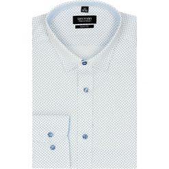 Koszule męskie na spinki: koszula bexley 2522 długi rękaw slim fit biały
