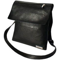 Torebki klasyczne damskie: Skórzana torebka w kolorze czarnym – (S)27 x (W)26 x (G)9 cm