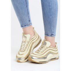 Złote Buty Sportowe Shady Life. Żółte buty sportowe damskie marki NEWFEEL, z gumy. Za 119,99 zł.