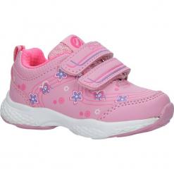 Różowe buty sportowe na rzepy z kwiatkami Casu F-708. Czerwone buciki niemowlęce marki Casu, na rzepy. Za 59,99 zł.