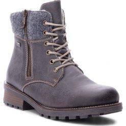 Trapery RIEKER - Z0441-45 Grau Kombi. Czarne buty zimowe damskie marki Rieker, z materiału. Za 299,00 zł.