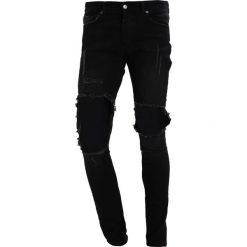 Mennace SUPER CORDOZAR IN PLAIN Jeans Skinny Fit black. Czarne rurki męskie Mennace. Za 269,00 zł.