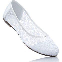 Baleriny damskie: Baleriny bonprix biały