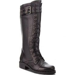 Kozaki EVA MINGE - Calataud 4D 18JS1372572EF  101. Czarne buty zimowe damskie Eva Minge, z materiału, przed kolano, na wysokim obcasie, na obcasie. W wyprzedaży za 539,00 zł.