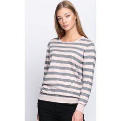 Szaro-Różowy Sweter Lean On Me. Szare swetry klasyczne damskie marki Sinsay, l, z dekoltem na plecach. Za 59,99 zł.