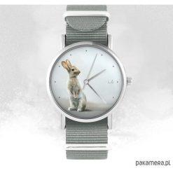 Zegarek - Zając - szary, nato. Szare zegarki damskie Pakamera. Za 129,00 zł.