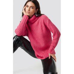 Trendyol Sweter z golfem - Pink. Różowe golfy damskie Trendyol, z dzianiny. Za 121,95 zł.
