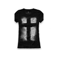 Koszulka UNDERWORLD Ring spun cotton Krzyż. Czarne t-shirty damskie marki Underworld, l, z nadrukiem, z bawełny. Za 59,99 zł.