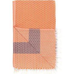 Chusta hammam w kolorze pomarańczowo-czerwonym - 180 x 95 cm. Czarne chusty damskie marki Hamamtowels, z bawełny. W wyprzedaży za 43,95 zł.