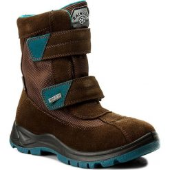 Buty zimowe chłopięce: Śniegowce NATURINO – Barents 0013001228.01.9103 Moro/Petrolio Fondo Nero D