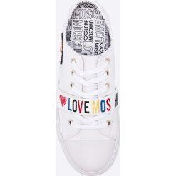 Love Moschino - Tenisówki. Szare tenisówki damskie marki Love Moschino, z materiału. W wyprzedaży za 499,90 zł.