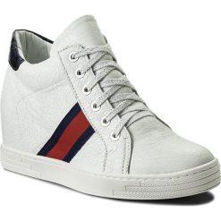 Sneakersy R.POLAŃSKI - 0924 Biały Kryształ. Czarne sneakersy damskie marki R.Polański, ze skóry, na obcasie. W wyprzedaży za 229,00 zł.