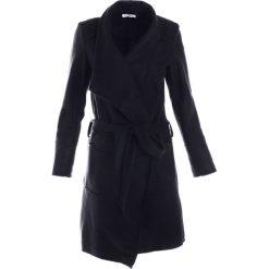 Płaszcz materiałowy - 65-6285-1 NER. Czarne płaszcze damskie pastelowe Unisono, na jesień, l, w paski, z dzianiny, eleganckie. Za 119,00 zł.