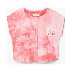 Mango Kids - Top dziecięcy Carlota 80-104 cm. Różowe bluzki dziewczęce bawełniane Mango Kids, z okrągłym kołnierzem, bez rękawów. W wyprzedaży za 29,90 zł.