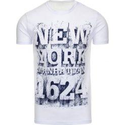 T-shirty męskie z nadrukiem: T-shirt męski z nadrukiem biały (rx1799)