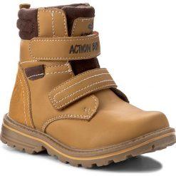 Buty zimowe chłopięce: Trapery ACTION BOY – CP40-6342Y  Miodowy