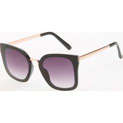Okulary przeciwsłoneczne - Czarny. Czarne okulary przeciwsłoneczne damskie aviatory Reserved. Za 49,99 zł.