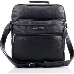 MOCNA TORBA MĘSKA BAG STREET WORKER BAG. Czarne torby na ramię męskie marki Bag Street, z gumy, na ramię, duże. Za 88,00 zł.