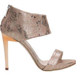 Sandały GINA PLATO. Czarne sandały damskie marki Gino Rossi, ze skóry. Za 149,90 zł.