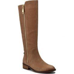 Oficerki ALDO - Mihaela 47128458 26. Brązowe buty zimowe damskie ALDO, z materiału, przed kolano, na wysokim obcasie, na obcasie. W wyprzedaży za 419,00 zł.