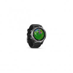 Zegarek sportowy GPS z muzyką i monitorem tętna na nadgarstku Fenix 5 Plus. Szare zegarki męskie marki Garmin. Za 2799,00 zł.