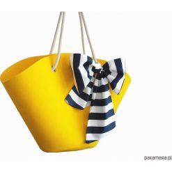 Torebki klasyczne damskie: Koszyk z filcu z marynarską kokardą
