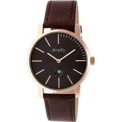 """Zegarki męskie: Zegarek kwarcowy """"the 4700"""" w kolorze ciemnobrązowo-różowozłoto-czarnym"""