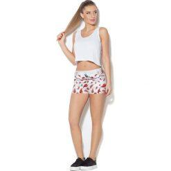 Spodnie damskie: Colour Pleasure Spodnie damskie CP-020 265 biało-czerwone r. M-L
