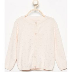 Swetry rozpinane damskie: Sweter zapinany na guziki – Kremowy