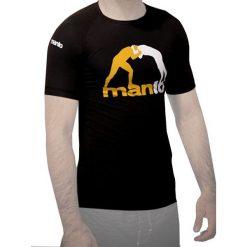 Koszulki sportowe męskie: Manto Koszulka męska Short Sleeve Rashguard Logo czarna r. XL (MNR811)