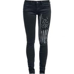 Spodnie damskie: Rock Rebel by EMP Rivet Flag Megan (Skinny Fit) Spodnie damskie czarny