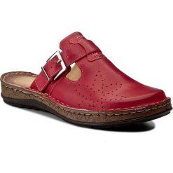Chodaki damskie: Klapki WALDI - 0814 Czerwony