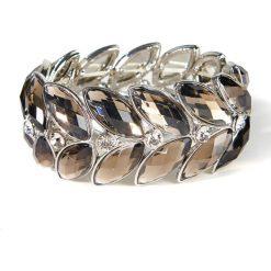 Bransoletki damskie na nogę: Metalowa bransoletka z imitacją kamieni