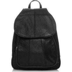 Czarny Plecak damski skóra naturalna Abruzzo. Czarne plecaki damskie marki Abruzzo, ze skóry. Za 139,00 zł.