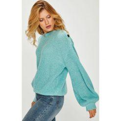 Pepe Jeans - Sweter. Szare swetry klasyczne damskie Pepe Jeans, m, z dzianiny, z okrągłym kołnierzem. Za 339,90 zł.