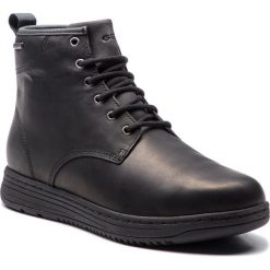 Kozaki GEOX - U Abroad B Abx C U845XC 00043 C9999 Black. Czarne buty zimowe męskie Geox, ze skóry ekologicznej. W wyprzedaży za 519,00 zł.
