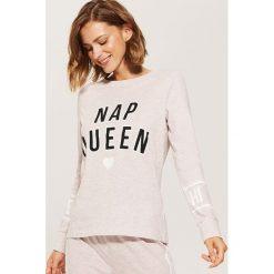 Piżamowa koszulka z napisem - Różowy. Czerwone koszule nocne i halki marki House, l, z motywem z bajki. Za 29,99 zł.