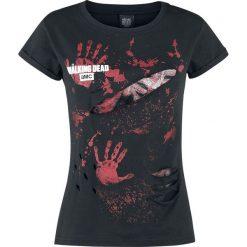 The Walking Dead Blood Hand Prints Koszulka damska czarny. Czerwone bluzki z odkrytymi ramionami marki Orsay, xs, z aplikacjami, z bawełny. Za 62,90 zł.