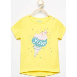 Bluzki, topy, tuniki: T-shirt z lodem - Żółty