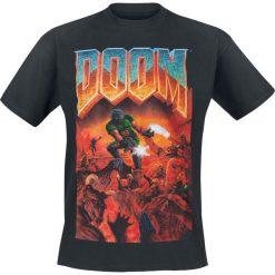 Doom Classic Boxart T-Shirt czarny. Czarne t-shirty męskie z nadrukiem Doom, l, z okrągłym kołnierzem. Za 74,90 zł.
