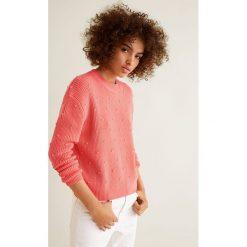 Mango - Sweter Rounds. Szare swetry klasyczne damskie Mango, l, z bawełny, z okrągłym kołnierzem. W wyprzedaży za 89,90 zł.