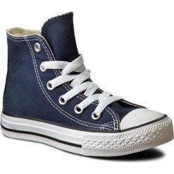 Trampki CONVERSE -  Yths Ct Allstar 3J233C Navy. Niebieskie trampki chłopięce marki Converse, z gumy, na sznurówki. W wyprzedaży za 179,00 zł.